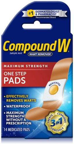 8,Compound W Wart Remover Maximum Strength One Step Pads
