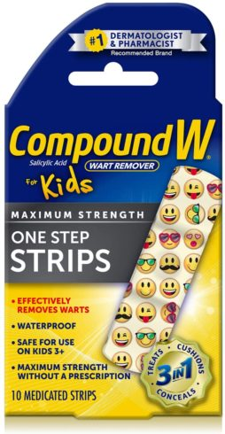9,Compound W One Step Wart Remover Strips for Kids