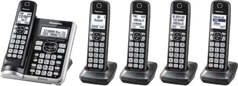 1. Panasonic Link2Cell Bluetooth Cordless Phone System with Voice Assistant