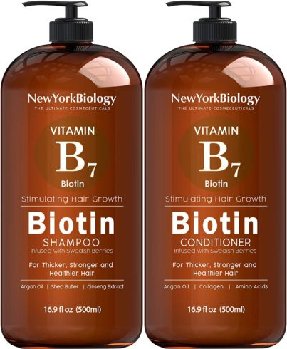 3. Biotin Shampoo and Conditioner Set for Hair Growth