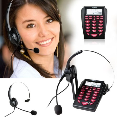 9. AGPtEK Corded Telephone with Headset